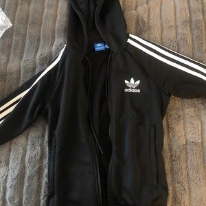 Hooded adidas track jacket